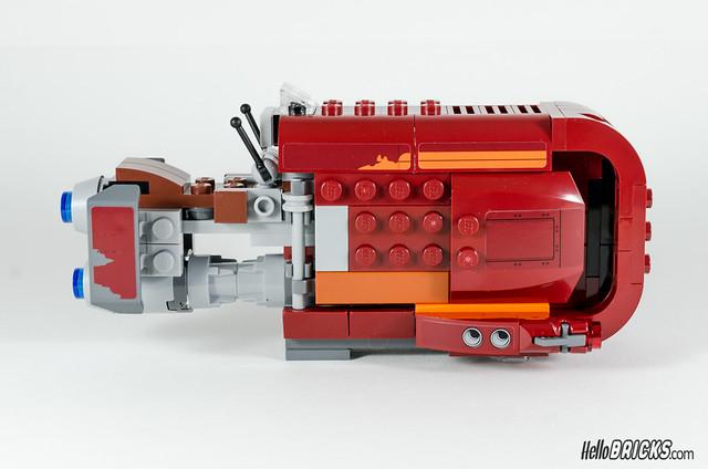 REVIEW LEGO Star Wars 75099 Rey's Speeder 18 - HelloBricks