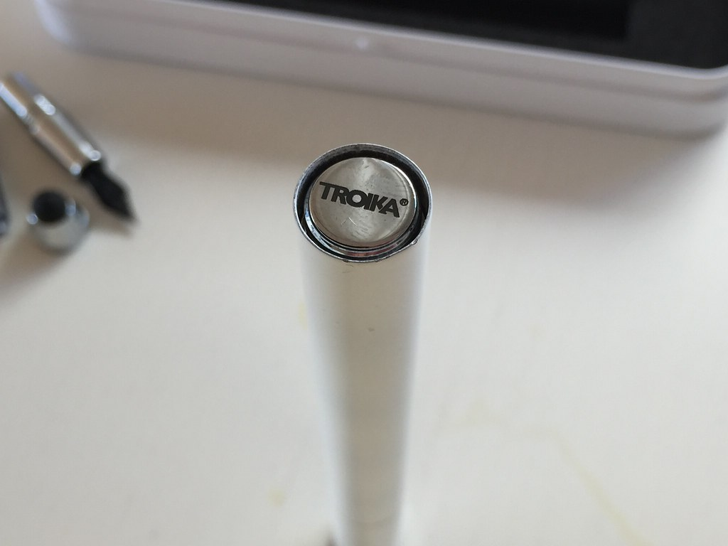 "Troika ""Simply White"" - Rollerball, Fountain Pen & Stylus"
