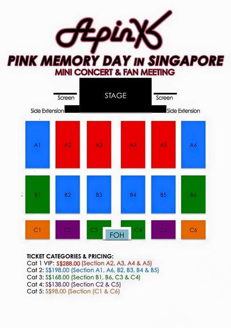 Apink Pink Memory in Singapore Seating Plan