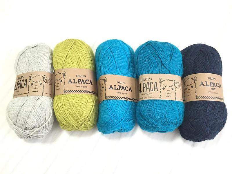 #dropsyarn のALPACAは5色。 #vogueknitting の #plaidpullover 編むよ!オリジナルに近いカラーで。