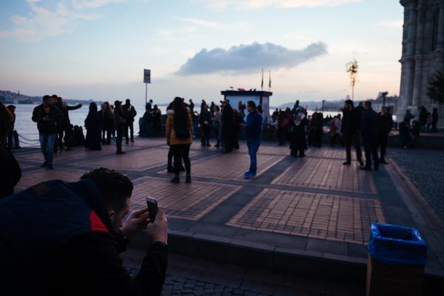 Istanbul: sunset in Ortaköy