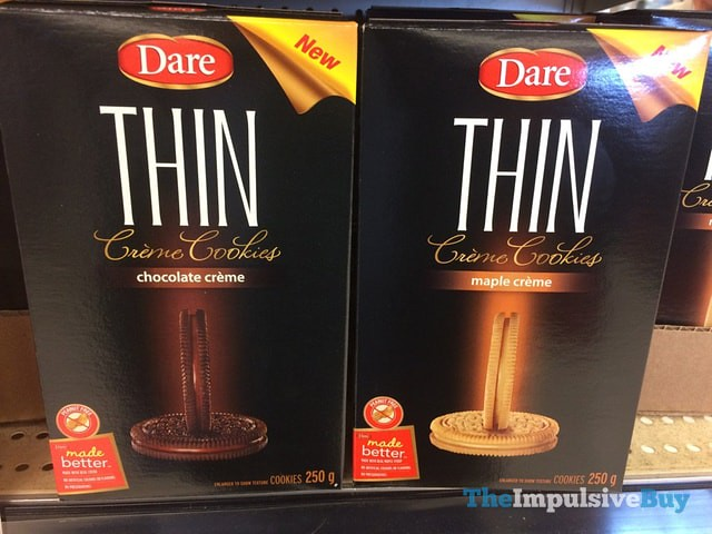 Dare Thin Creme Cookies (Chocolate and Maple)