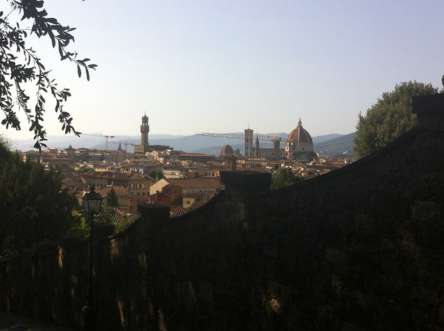 View over Florence, from the steps leading to Piazzale Michelangelo