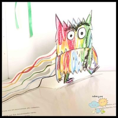 Libro El monstruo de colores pop-up