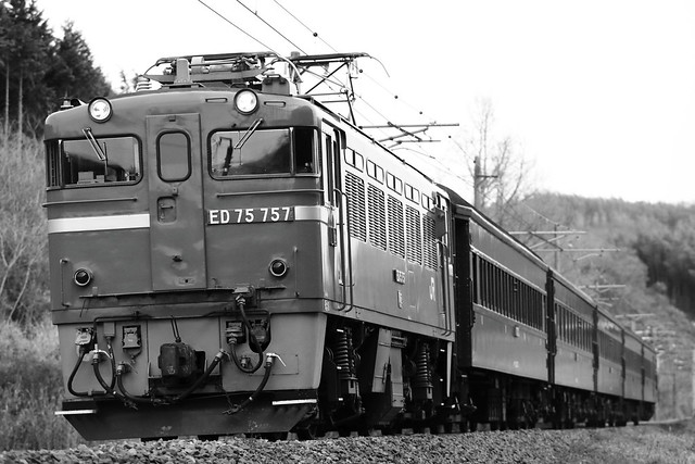 ED75-757 + Old-Passenger car Special rapid train
