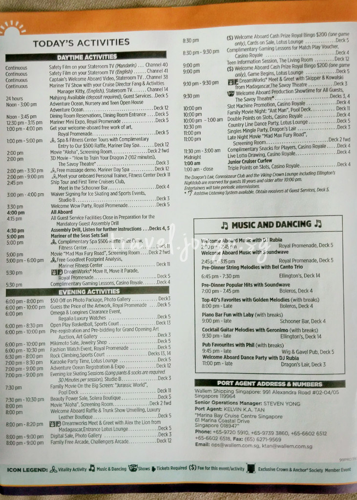 Cruise Compass of Mariner of the Seas - Page 4