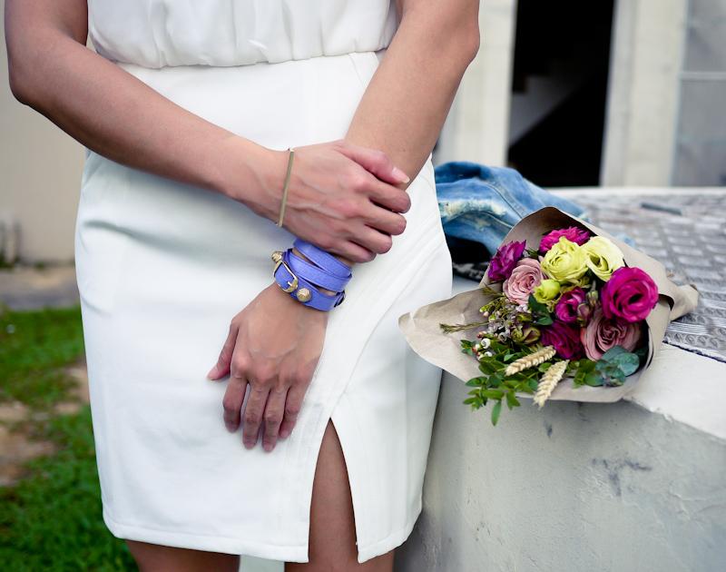Balenciaga Leather Bracelet Marche Aux Fleur Bouquet Singapore