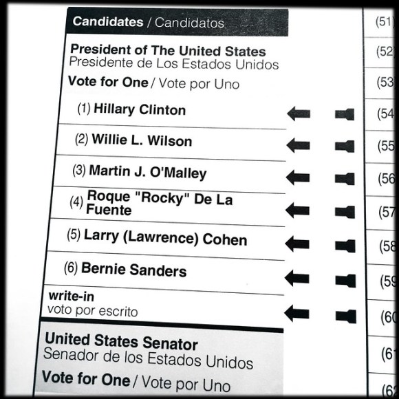Democratic Primary Ballot