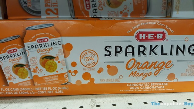 H-E-B Sparking Orange Mango