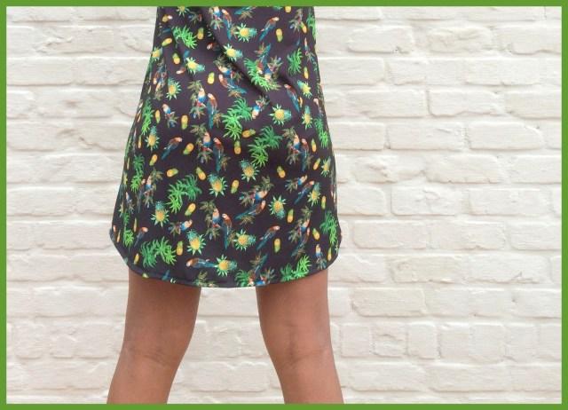 parrot shirt dress (back) - Bangkok Basic blouse hack