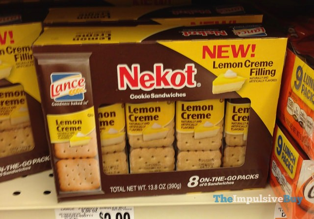 Nekot Lemon Creme Cookie Sandwiches