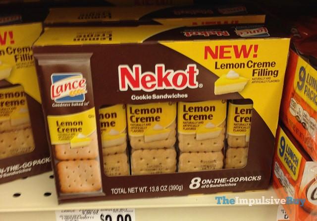 Nekot Lemon Creme Cookie Sandwiches