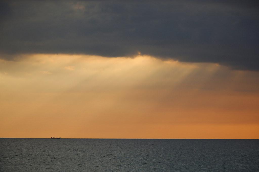 Solnedgang på Long Beach