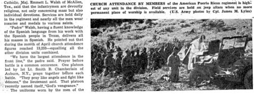 Article In The July 20 1951 Stars Stripes Newspaper About Deployment Of 65th Infantry Regiment To Korea