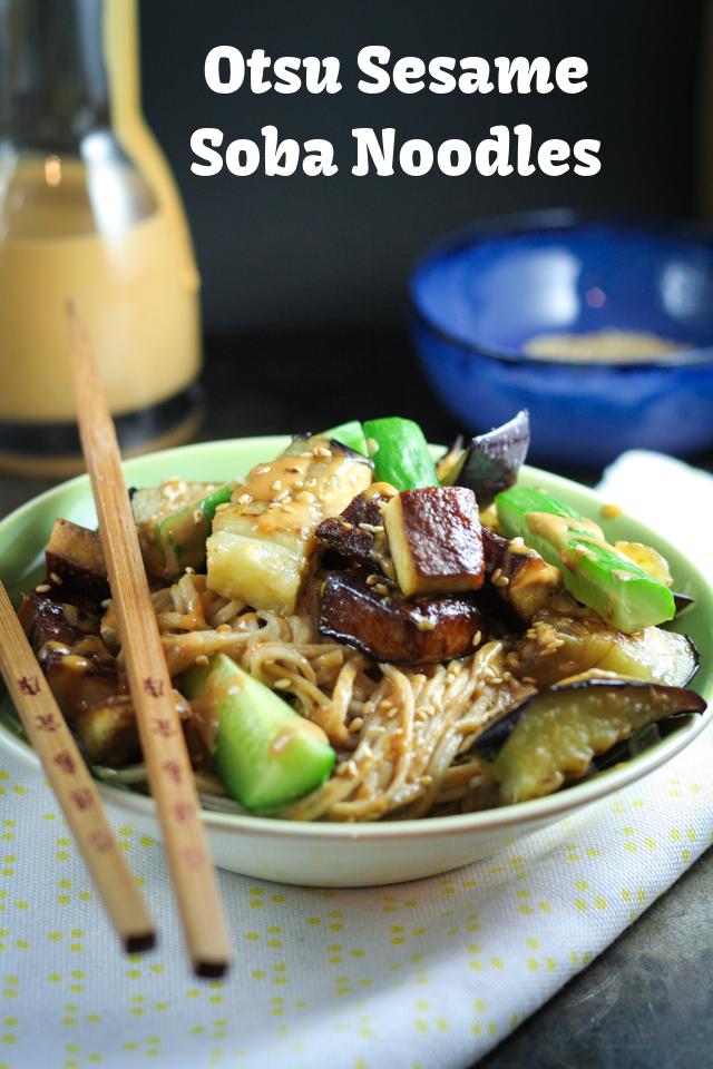 Otsu Sesame Soba Noodles on www.inthiskitchen.com