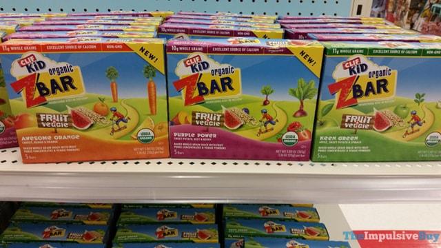 Clif Kid Fruit & Veggie ZBar (Awesome Orange, Purple Power, and Keen Green)