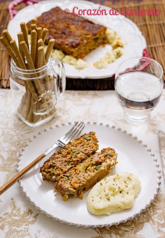 Pastel de carne con verduras