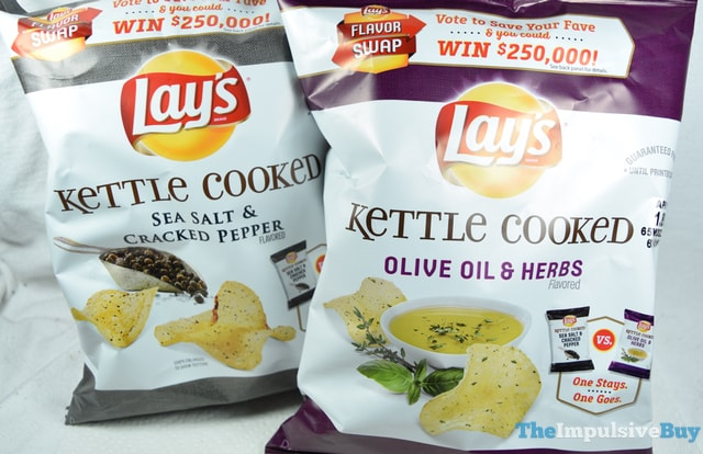 Lay's Kettle Cooked Olive Oil & Herbs Potato Chips (Flavor Swap) 2