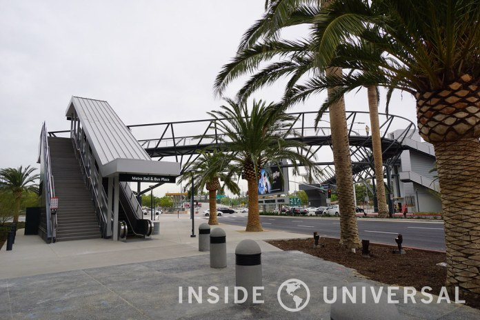The Universal Metro Lankershim pedestrian bridge is now open