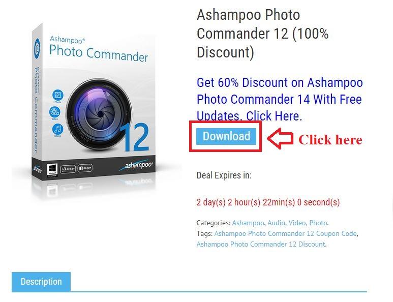 Bản quyền miễn phí Ashampoo Photo Commander 12 bước 2: click download