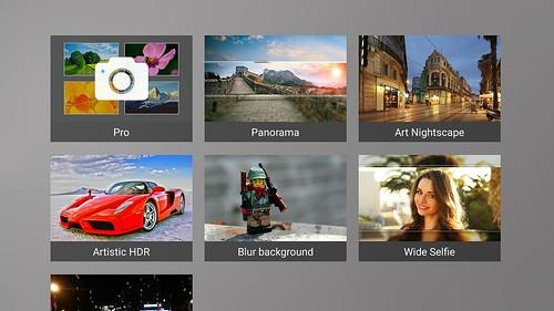 ในโหมด Pro จะเลือกโหมดถ่ายภาพได้ตามใจชอบ