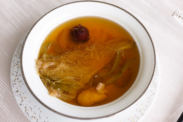 Double Boiled Chicken Broth dried night blooming cereus, chinese almonds & sweet dates