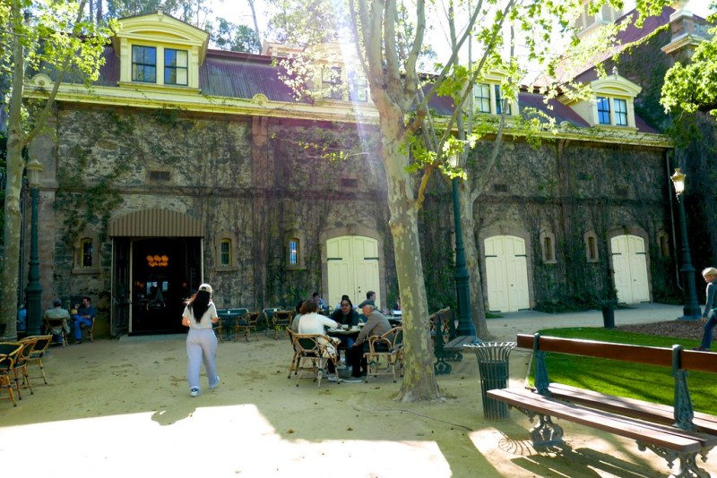 Outside the cafe at Inglenook