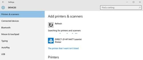 Windows 10 ก็จะเจอตัวพริ้นเตอร์ได้เลย ไม่ต้องลงไดรเวอร์
