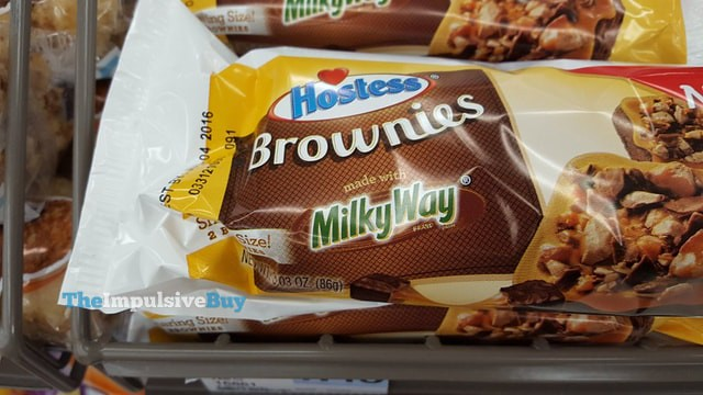 Hostess Brownies made with Milky Way