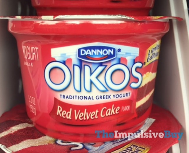 Dannon Oikos Limited Edition Red Velvet Cake Greek Yogurt