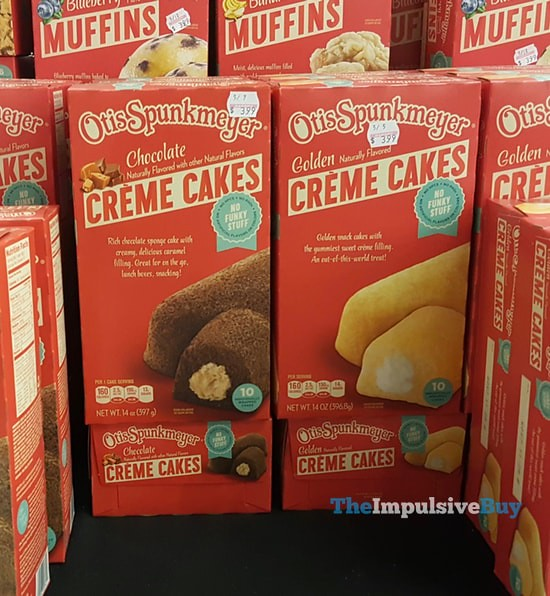 Otis Spunkmeyer Creme Cakes (Chocolate and Golden)