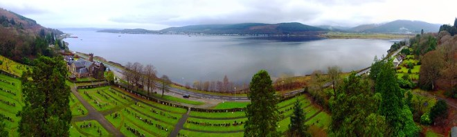 Holy Loch Scotland Panorama