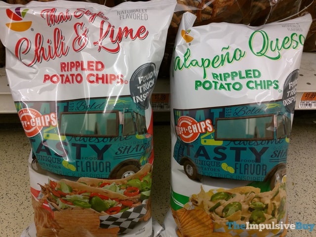 Giant Food Truck Inspired Rippled Potato Chips (Thai Style Chili & Lime and Jalapeno Queso)