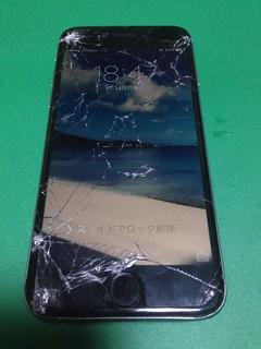 45_iPhone6のフロントパネルガラス割れ