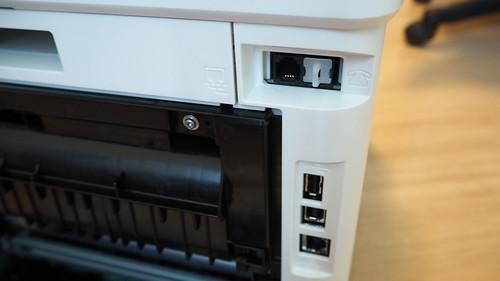 พอร์ตเชื่อมต่อของ HP Color LaserJet Pro MFP M477fdw