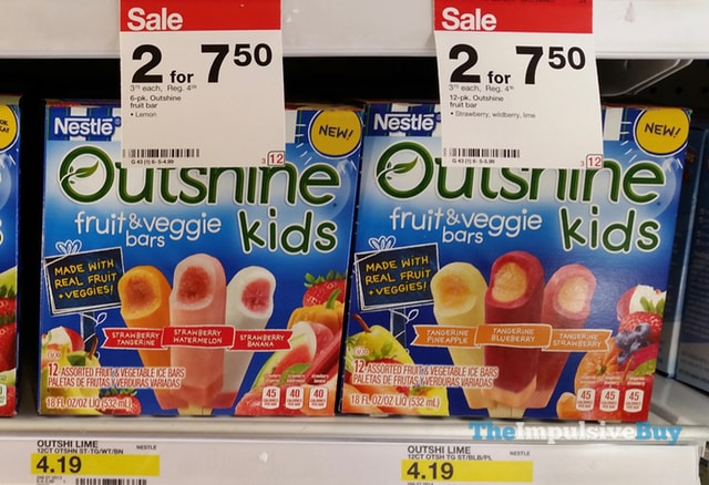 Nestle Outshine Kids Fruit & Veggie Bars