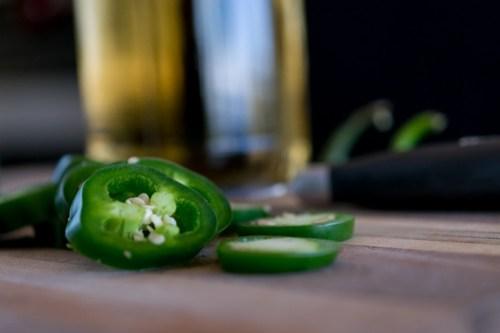 emerald-green jalapeños