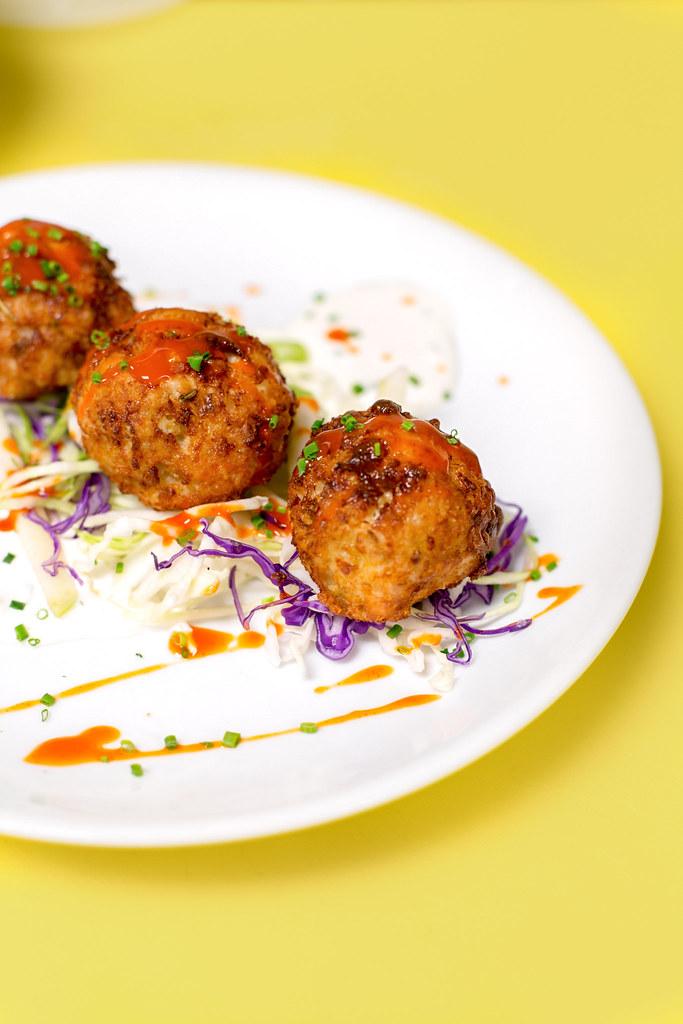 Chef Evan Blomgren's Buffalo Chicken Meatballs