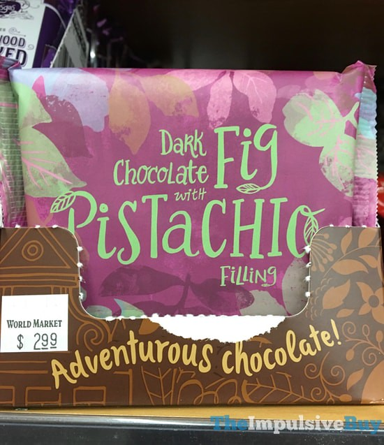 World Market Dark Chocolate with Fig Pistachio Filling