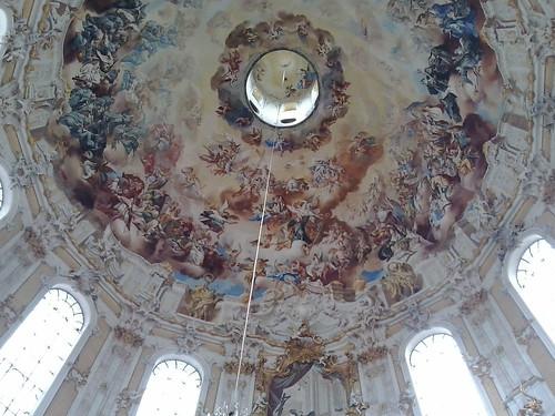 Cúpula de la Basilica de Ettal en el Sur de Baviera