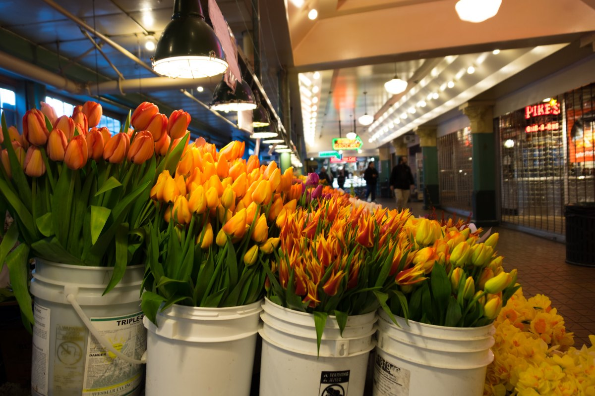 SeattlePikePlaceMarkerFlowers