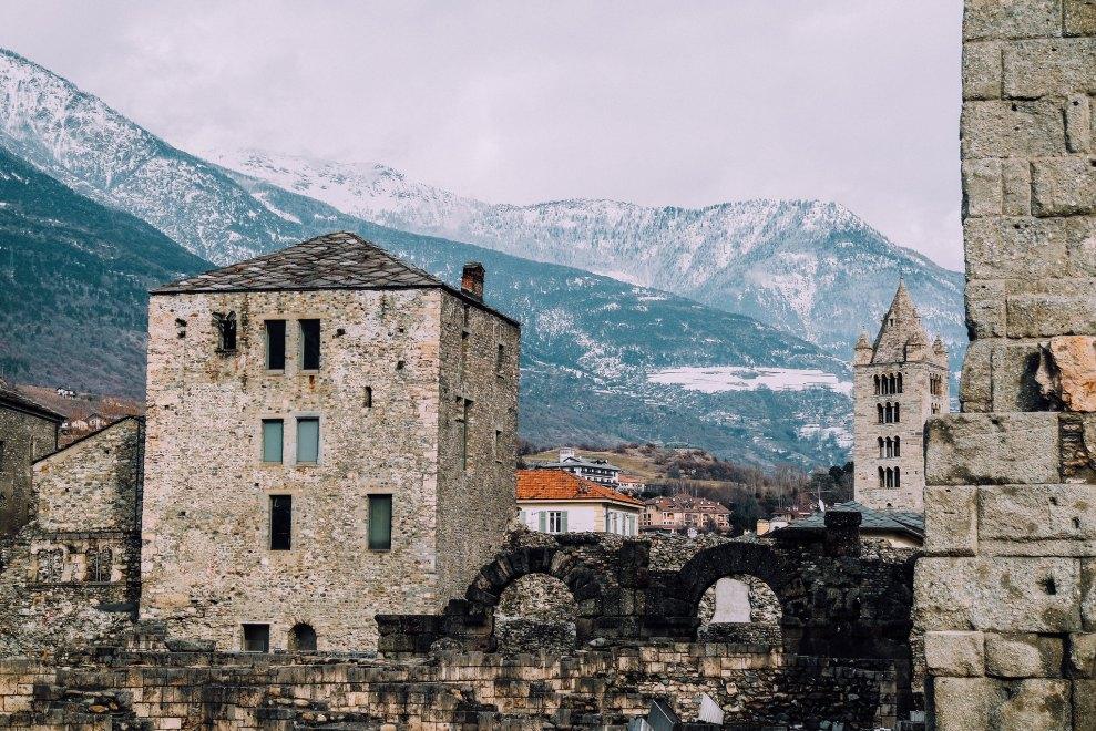 Aosta (panorama dal Teatro Romano)
