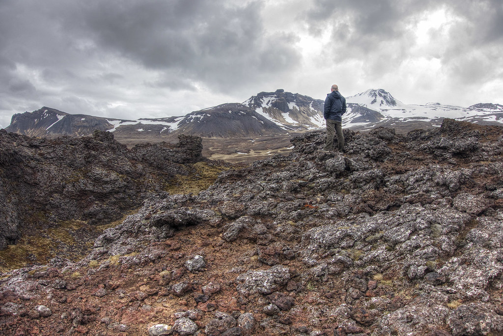 Matt surveying Iceland.