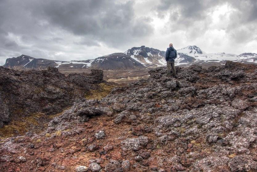 Matt surveying Iceland.