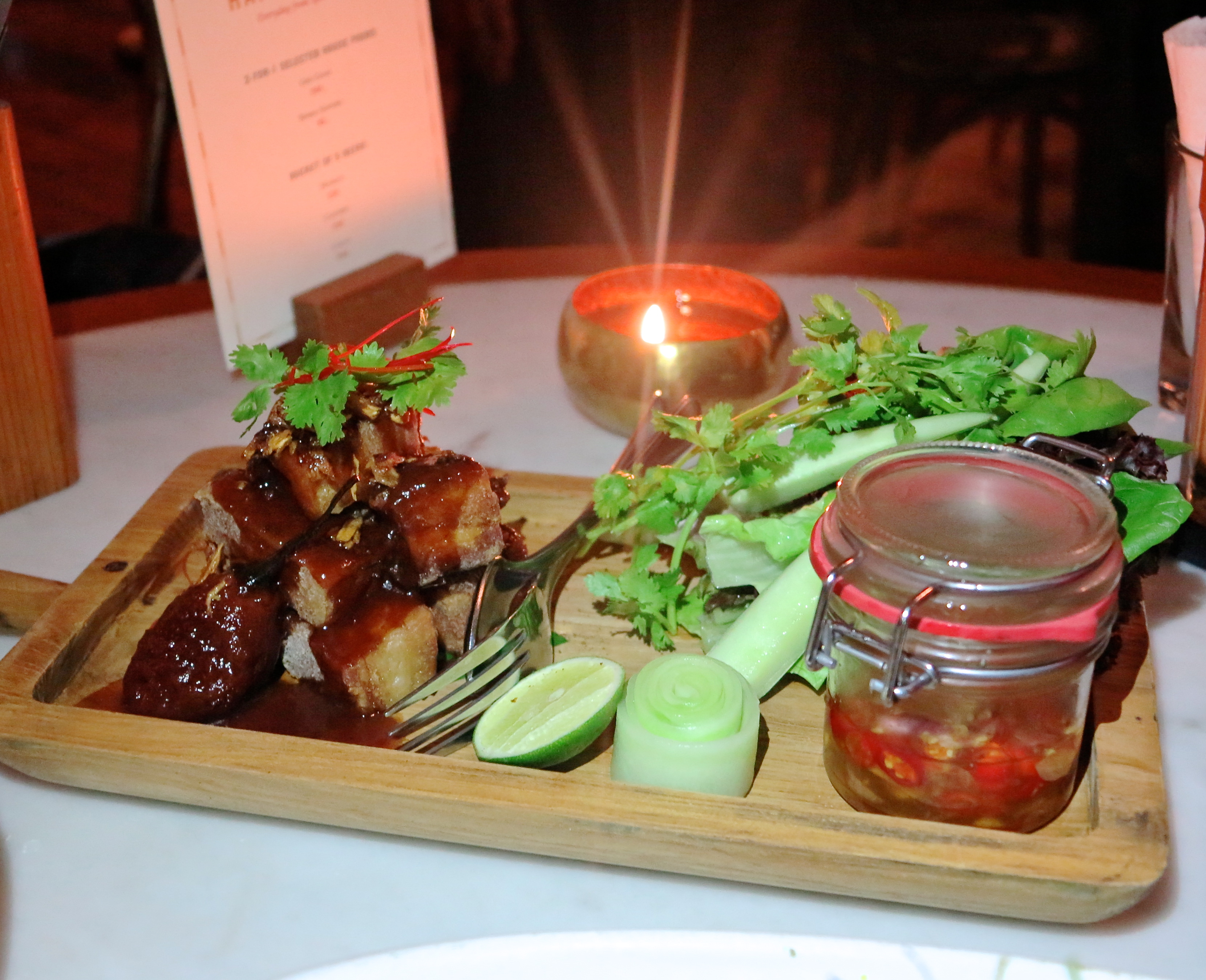 Crispy Pork Belly With Tamarillo And Tamarind Sauce