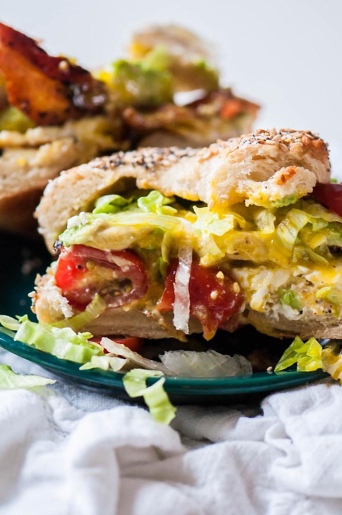 BLT Bagel Sandwich 11