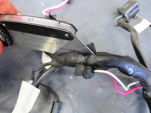 Removing Old Rubber Grommet