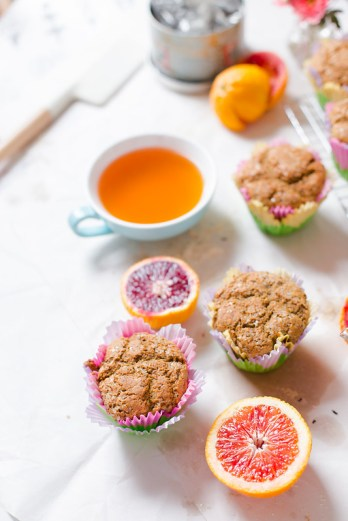 Blood Orange Poppy Seed Muffins
