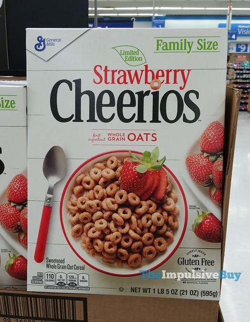 Limited Edition Strawberry Cheerios Cereal