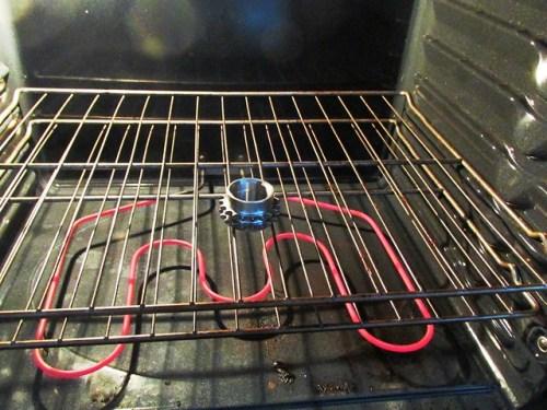 Heating Crankshaft Sprocket in the Oven-Top Side Goes Against Engine Block